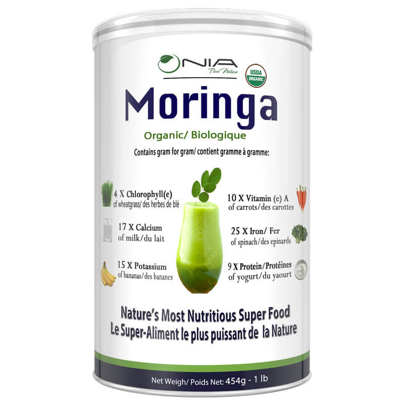 Organic Moringa Oleifera Leaf Powder (454g – 1 lb )