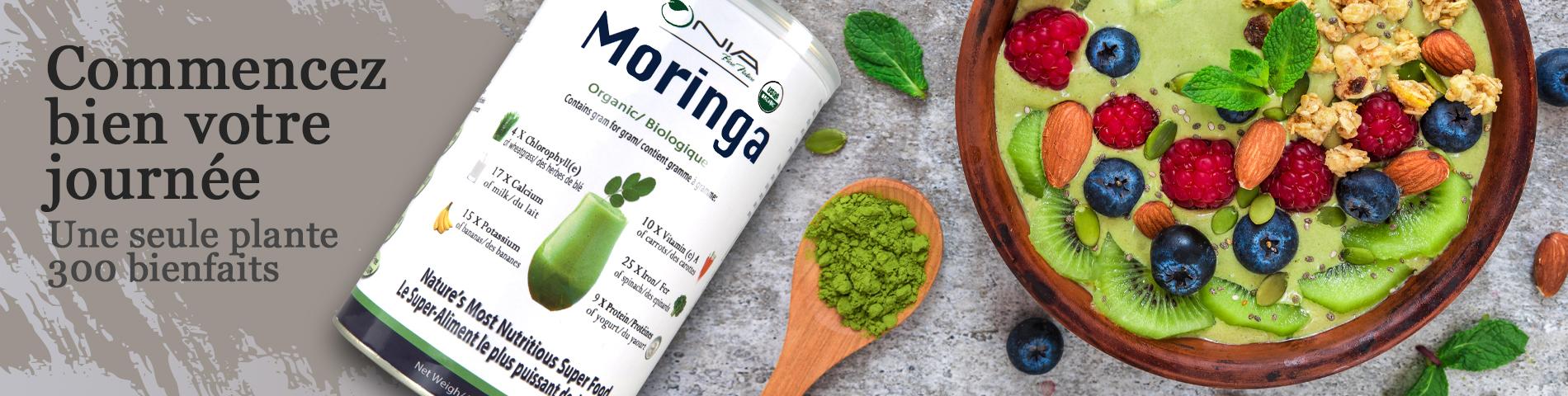 Kick start your day with Moringa. French
