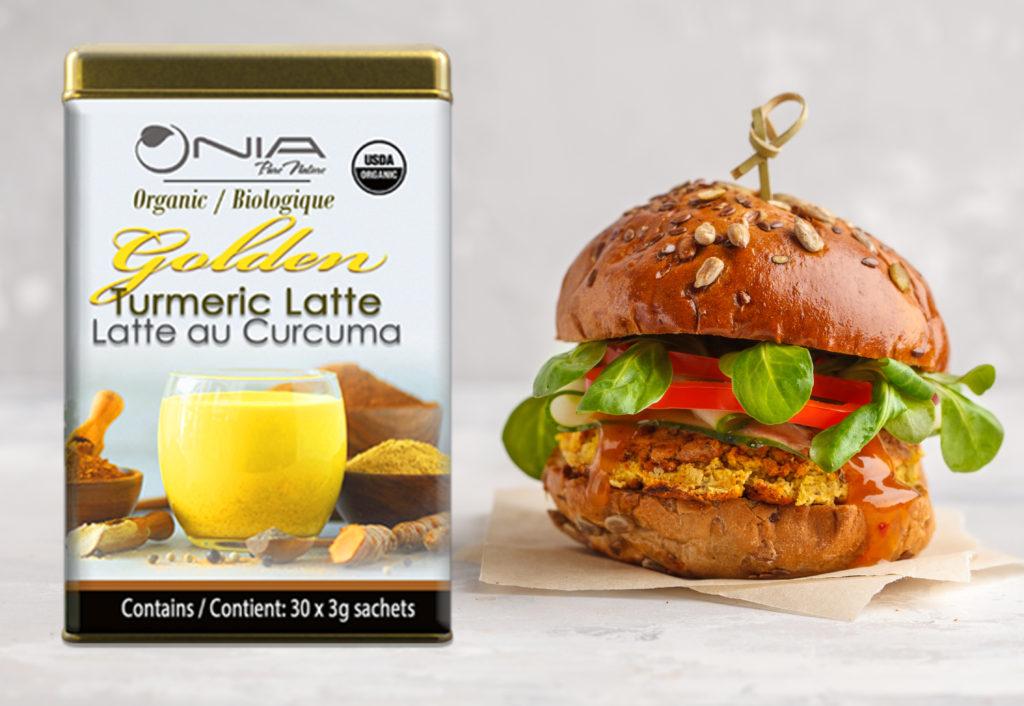 , Nia Golden Turmeric Lentil Veggie Burgers, Nia Pure Nature